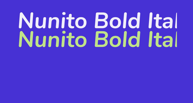 Nunito Bold Italic
