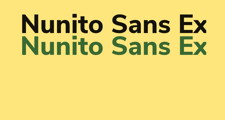 Nunito Sans ExtraBold