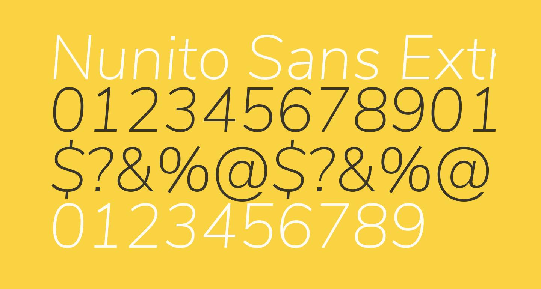 Nunito Sans ExtraLight Italic