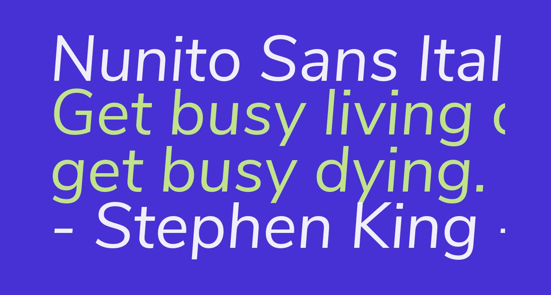 Nunito Sans Italic
