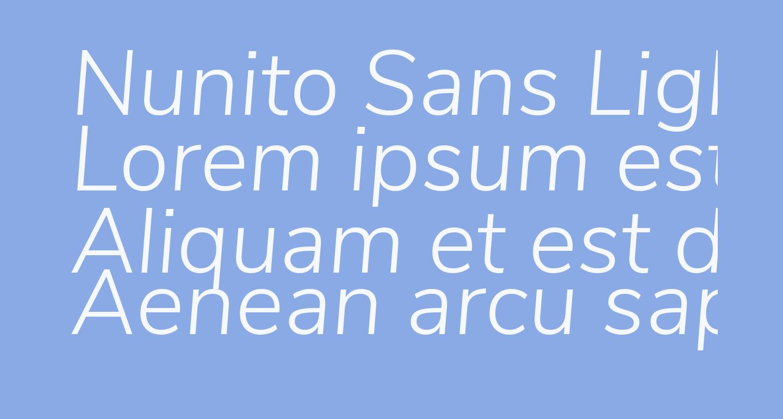 Nunito Sans Light Italic