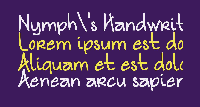 Nymph's Handwriting