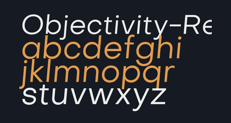Objectivity-RegularSlanted