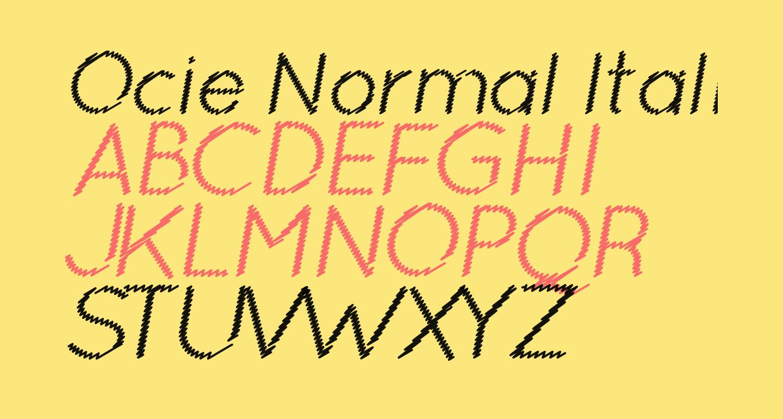 Ocie Normal Italic