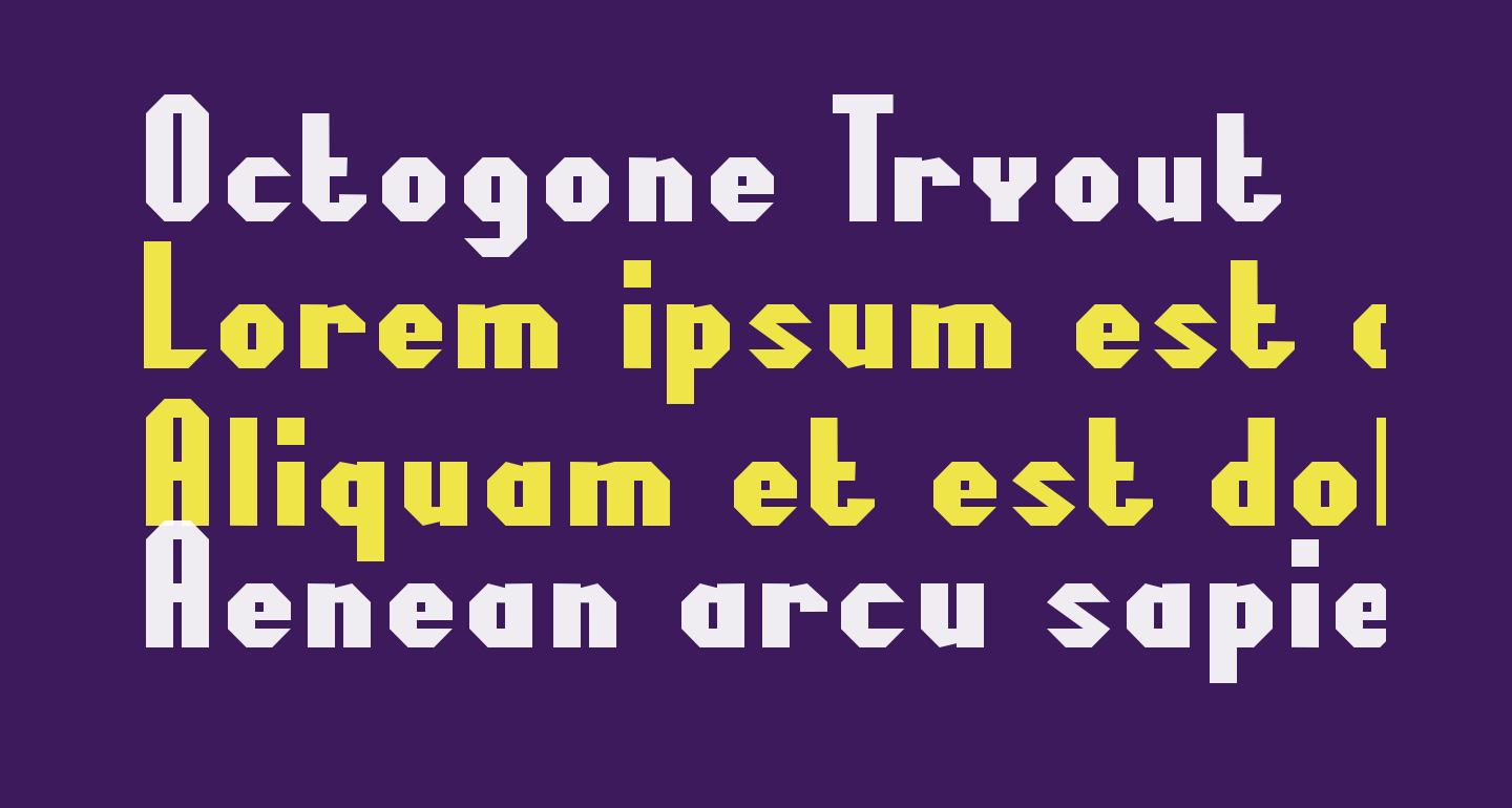 Octogone Tryout