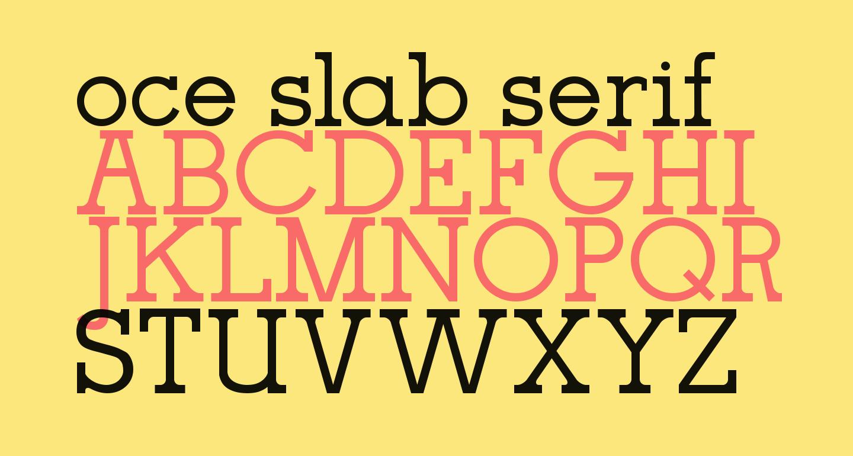 oce slab serif