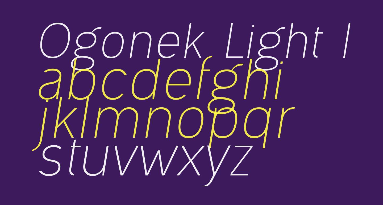 Ogonek Light Italic
