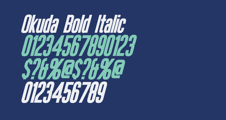 Okuda Bold Italic