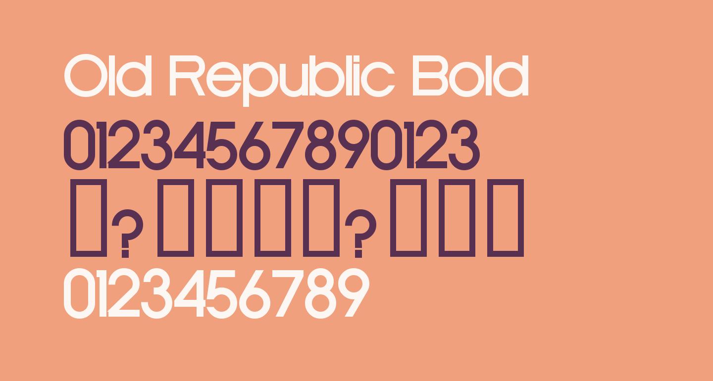 Old Republic Bold