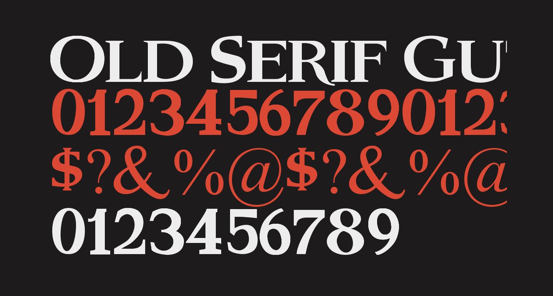 Old Serif Gut