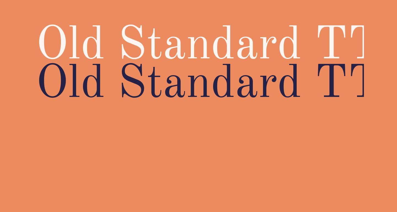 Old Standard TT Regular