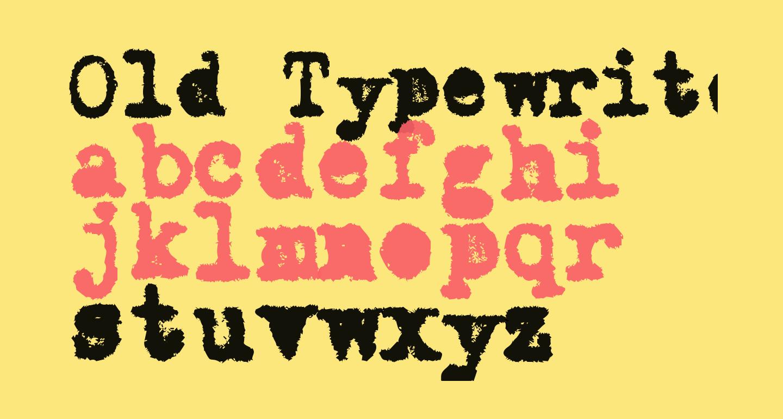 Old Typewriter Messy