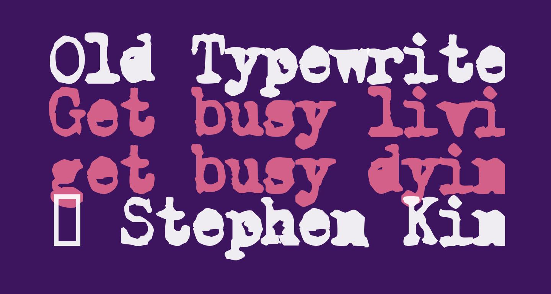 Old Typewriter Simplified