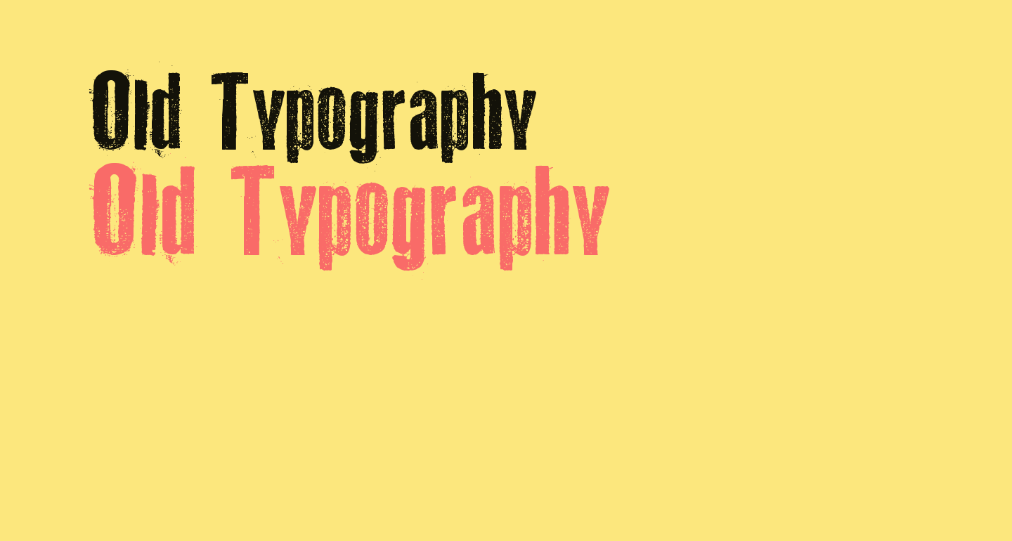 Old Typography