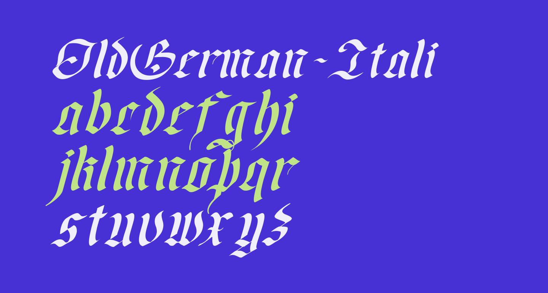 OldGerman-Itali