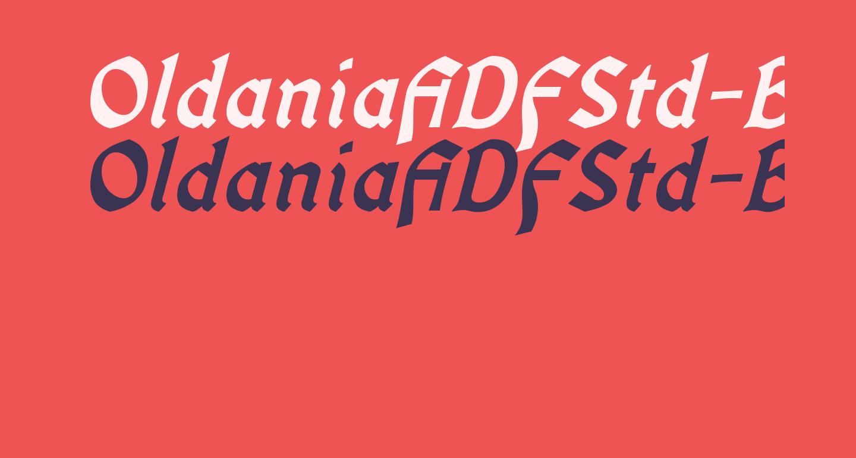 OldaniaADFStd-BoldItalic