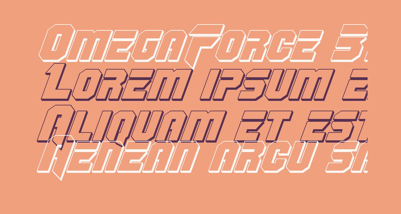 OmegaForce 3D Italic