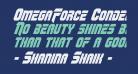OmegaForce Condensed Italic