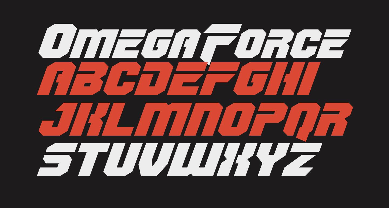 OmegaForce Expanded Italic