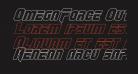 OmegaForce Outline Italic