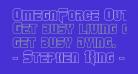 OmegaForce Outline Regular