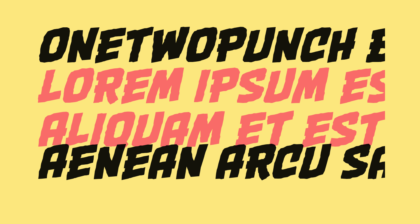 OneTwoPunch BB Italic