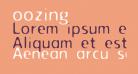 oozing