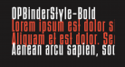 OPBinderStyle-Bold