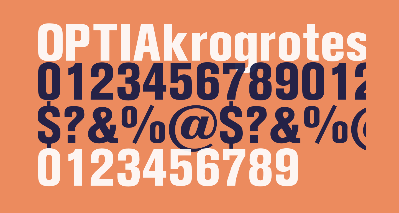 OPTIAkrogroteskBlack-Cond