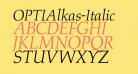 OPTIAlkas-Italic