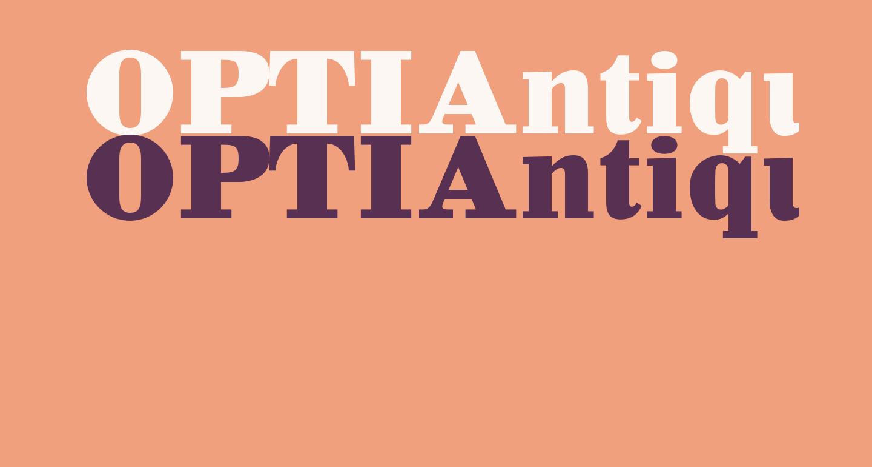 OPTIAntique-Bold