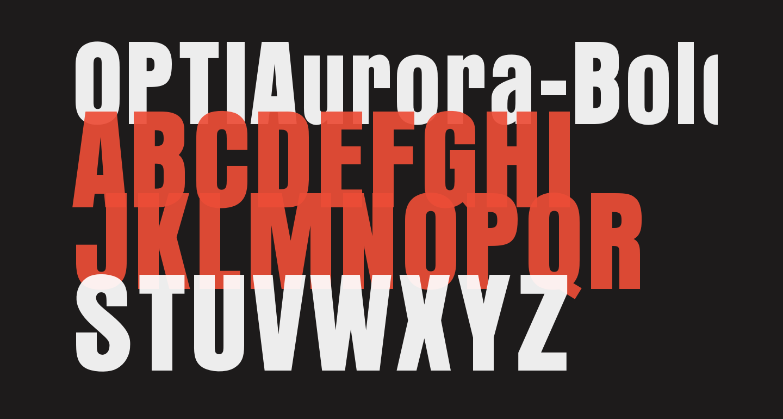 OPTIAurora-BoldCondensed