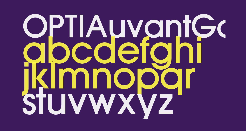 OPTIAuvantGothic-Medium