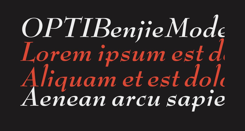 OPTIBenjieModern-BoldIta