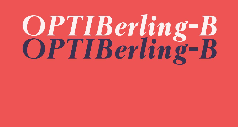 OPTIBerling-BoldItalicAg