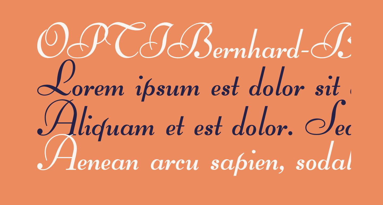 OPTIBernhard-BoldCursive