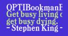 OPTIBookmanBoldCondAgency