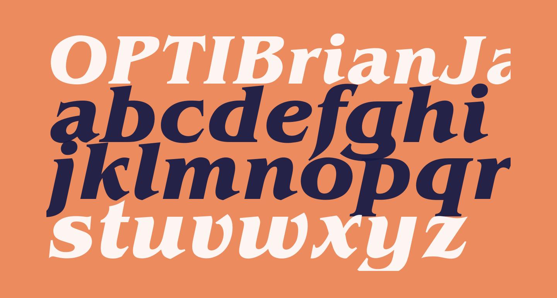 OPTIBrianJamesBold-Italic