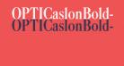 OPTICaslonBold-Cond