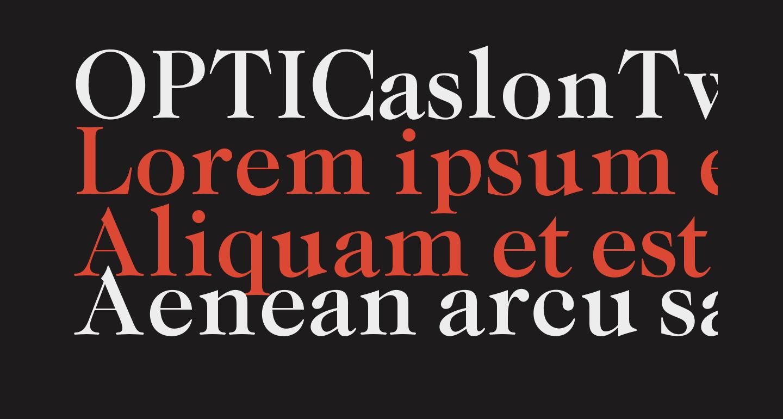 OPTICaslonTwo-Medium