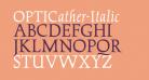 OPTICather-Italic