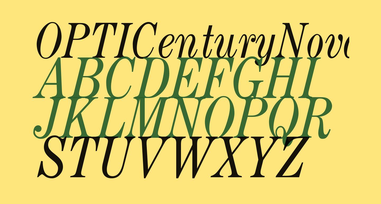 OPTICenturyNova-Italic