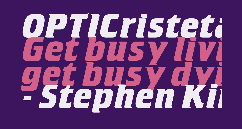 OPTICristeta-BoldItalic