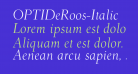 OPTIDeRoos-Italic
