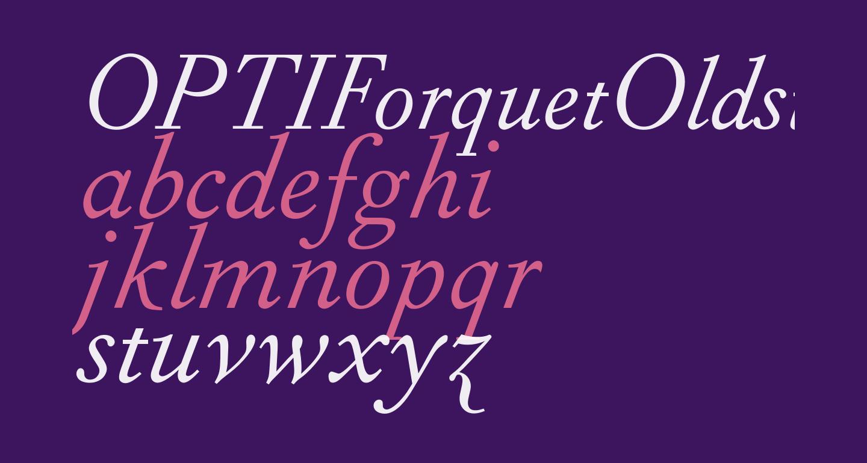 OPTIForquetOldstyle-Ita