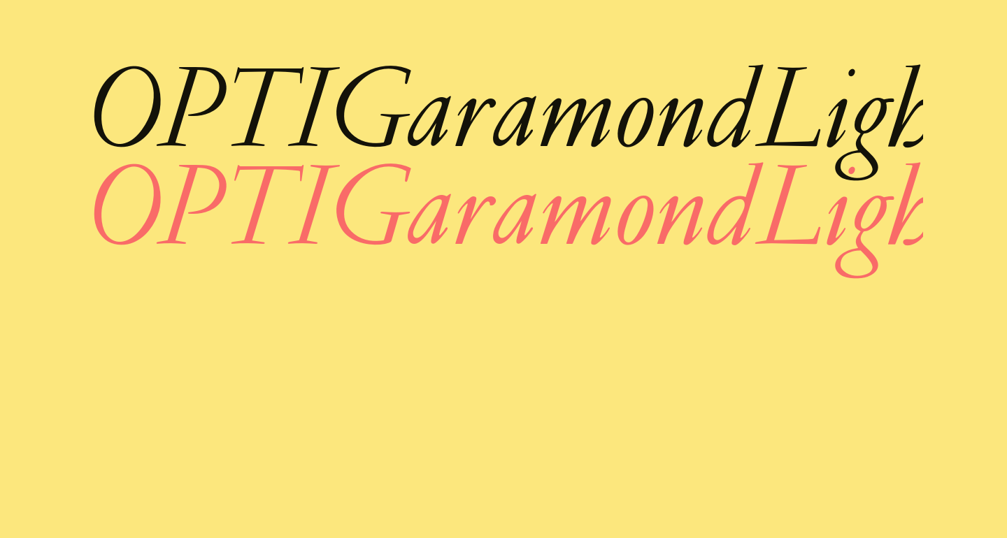 OPTIGaramondLight-Italic