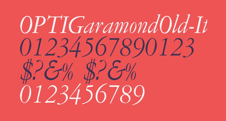 OPTIGaramondOld-Italic
