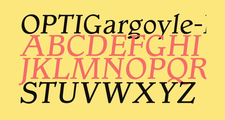 OPTIGargoyle-Italic