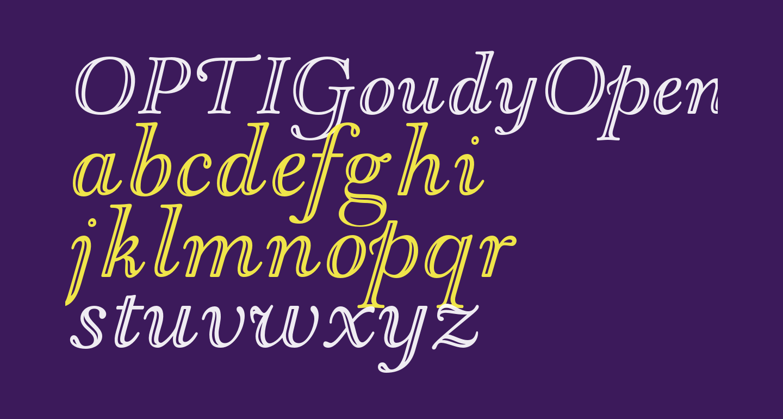OPTIGoudyOpen-Italic