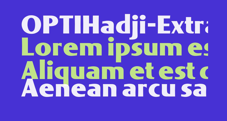 OPTIHadji-ExtraBold